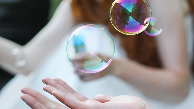 Schön und zerbrechlich: Seifenblasen