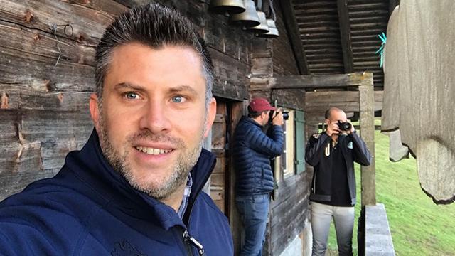 Dreharbeiten mit Daniel Meister auf der Alp