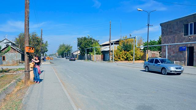 Dorf Lusarat in der Ararat-Provinz
