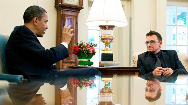 Bono mit Barack Obama